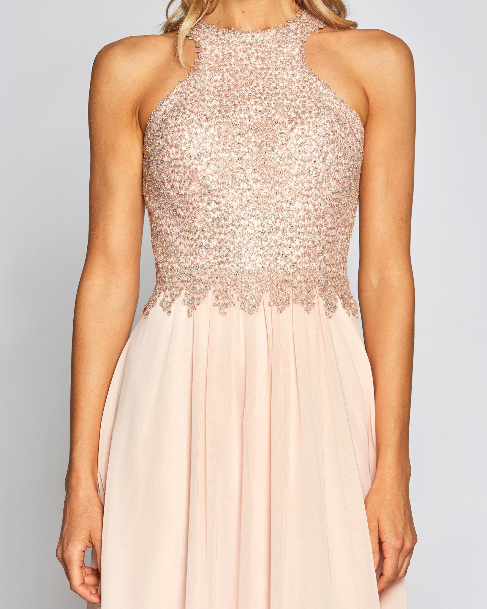 Lady Pink Halter Top Dress