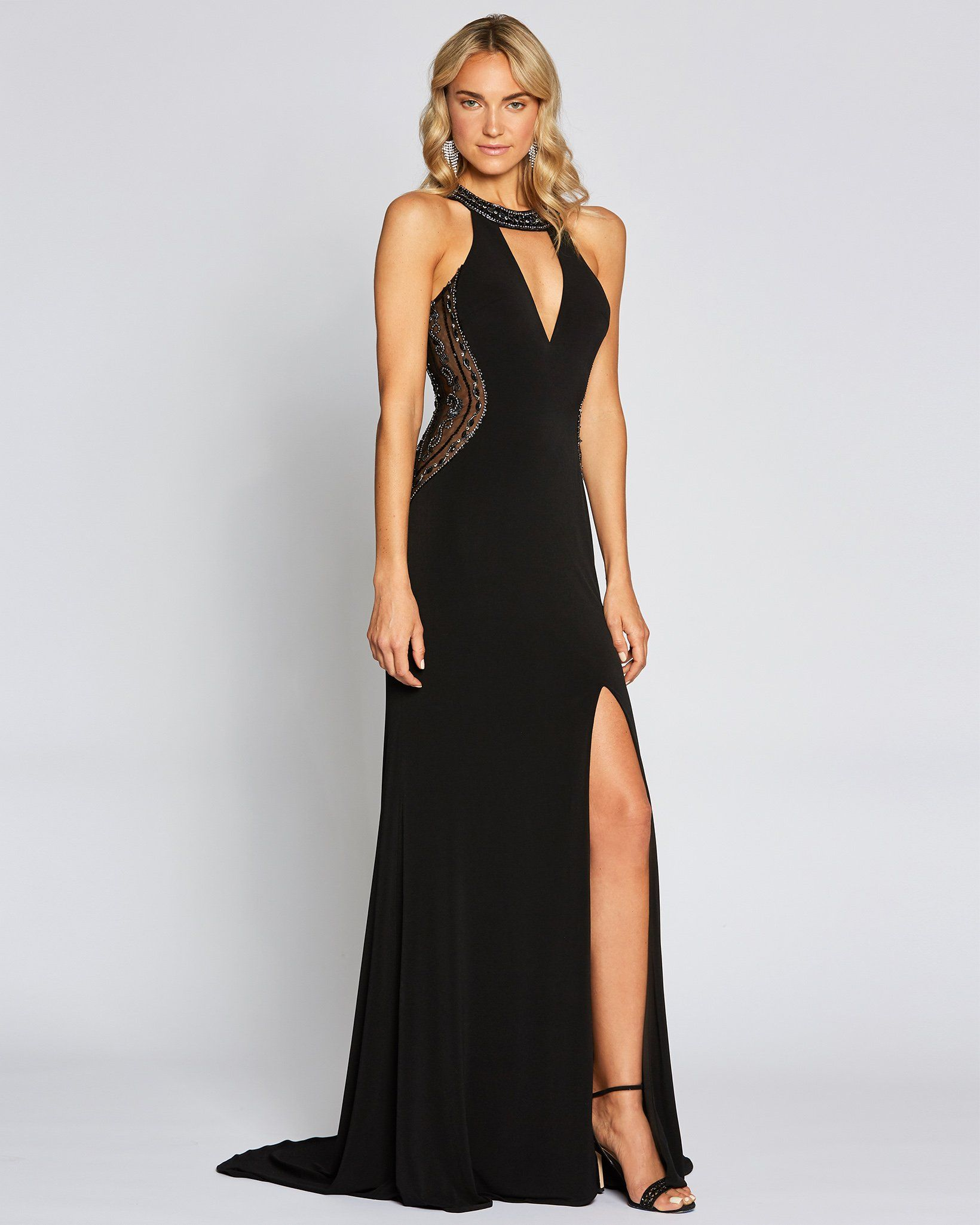 Black Sexy Slit Dress