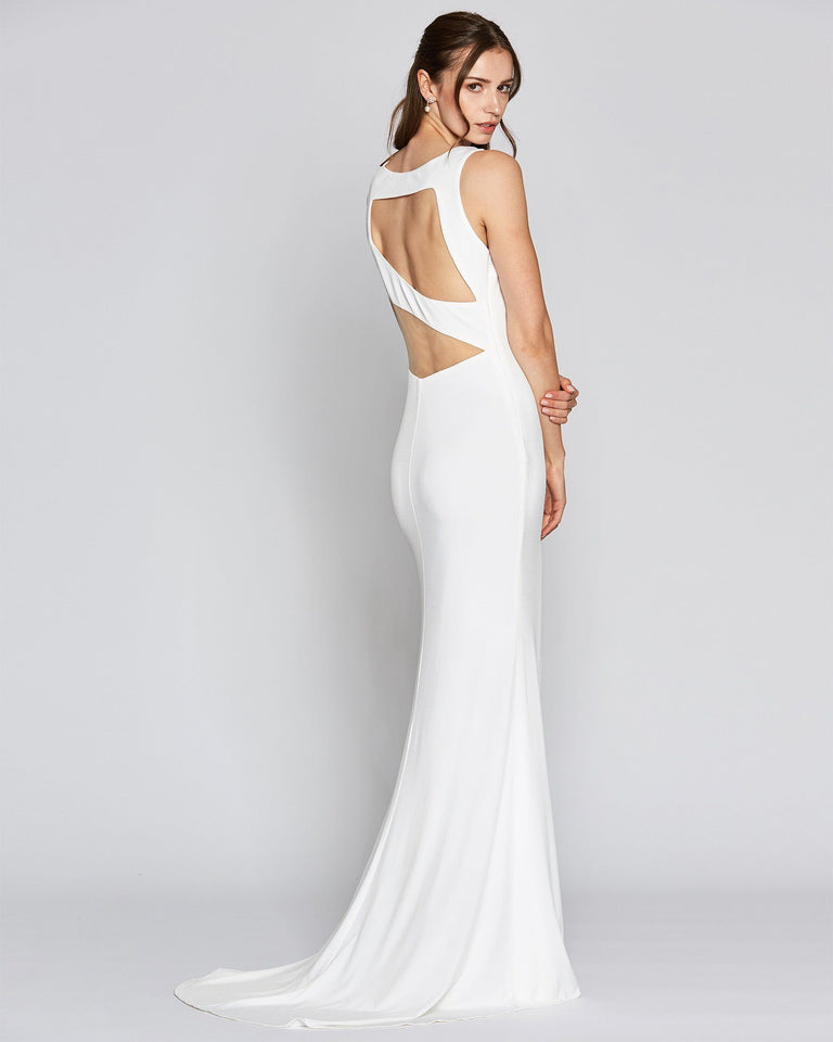 White Cut Out Sexy Long Dress