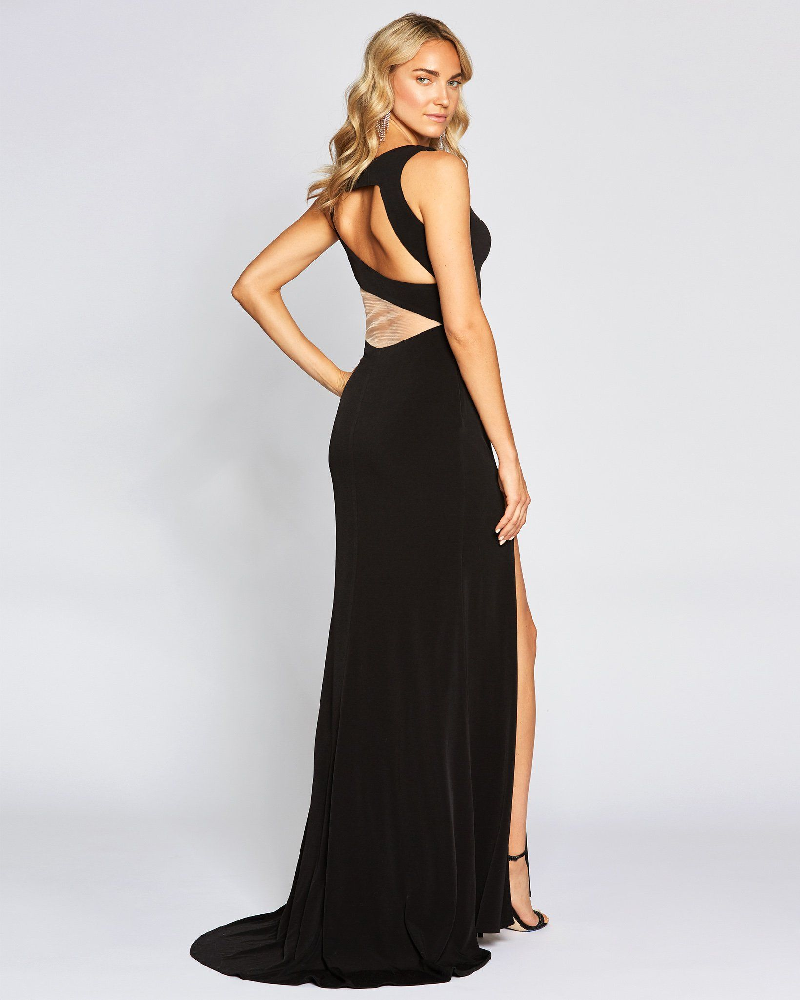 Black Cut Out Sexy Long Dress