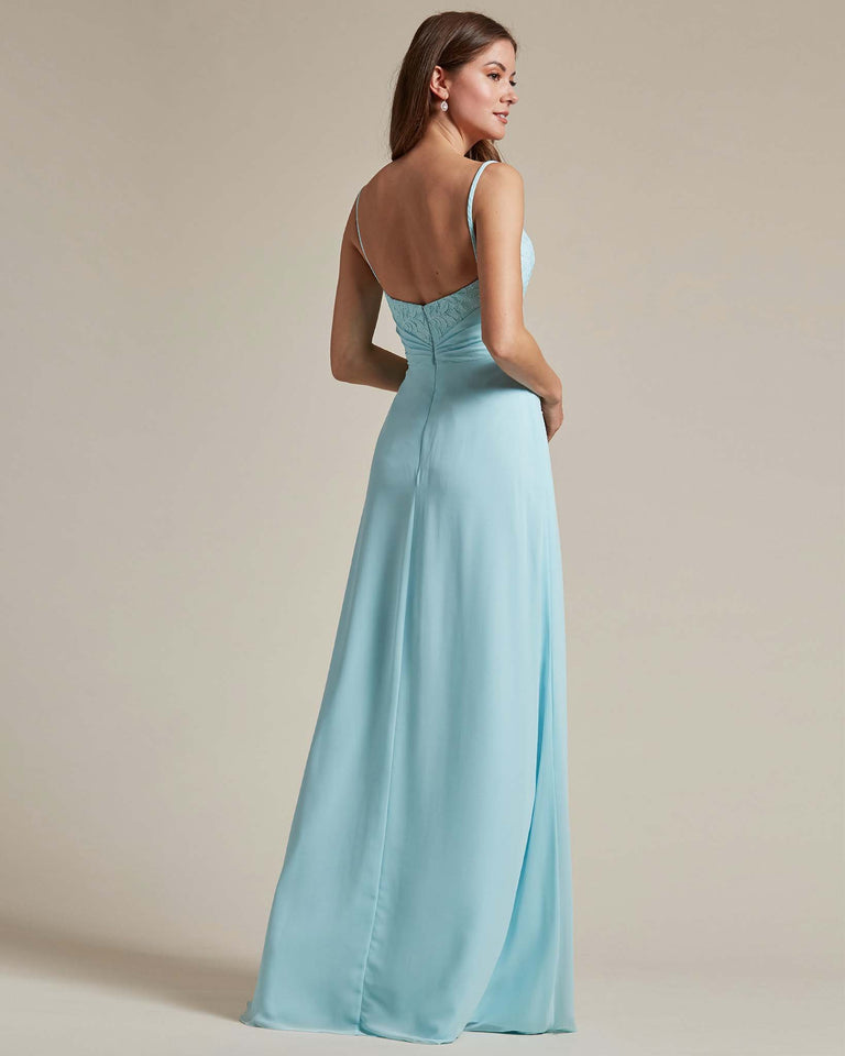 Celadon Classic Sweetheart Shaped Top Formal Dress With Long Length Skirt