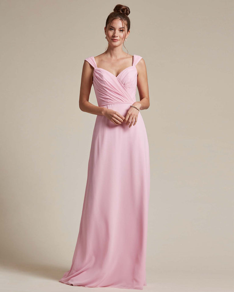 Cherry Blossom Sweetheart Neckline Long Length Skirt Bridesmaid Dress