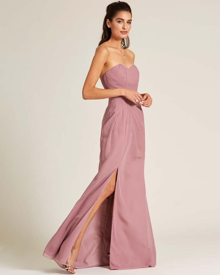 Moss Strapless Sweetheart Neckline Formal Gown