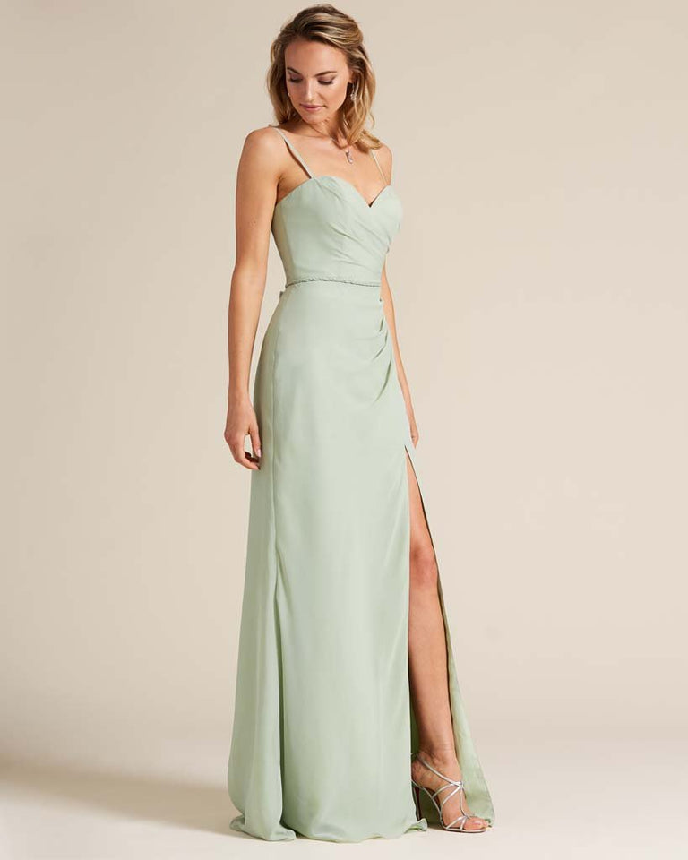 Jade Sleeveless Sweetheart Neckline Evening Dress