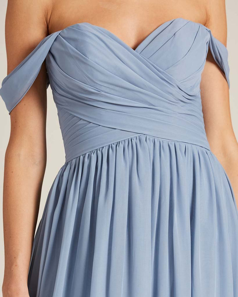 Jade Off Shoulder Sweetheart Neckline Dress