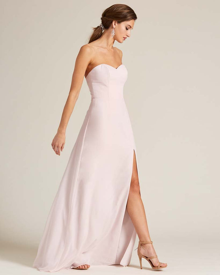 Paradise Sage Strapless Cut Out Back Formal Gown
