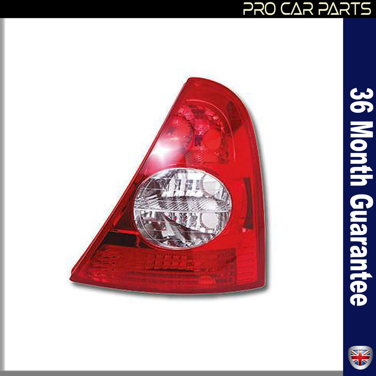 RENAULT CLIO Hatchback Rear Tail Light Lamp Without Bulb Holder Left Side