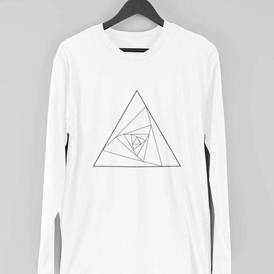 Abstract Triangle Full-Sleeve T-Shirt