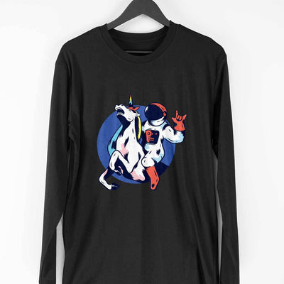 Astronaut Unicorn Full Sleeve T-Shirt