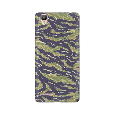 Scattered Green Camouflage Oppo Mobile Covers
