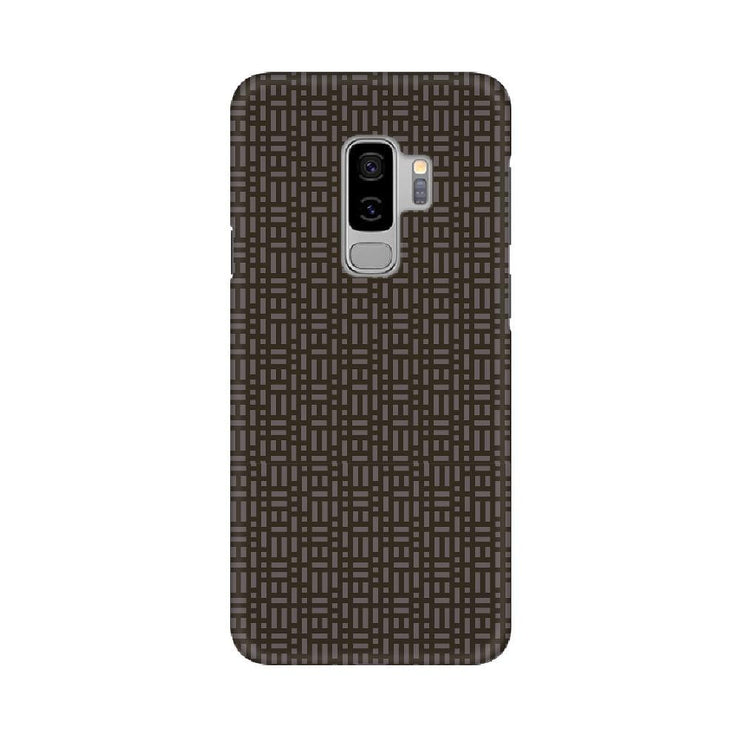 Brown Microgrid Samsung Mobile Covers
