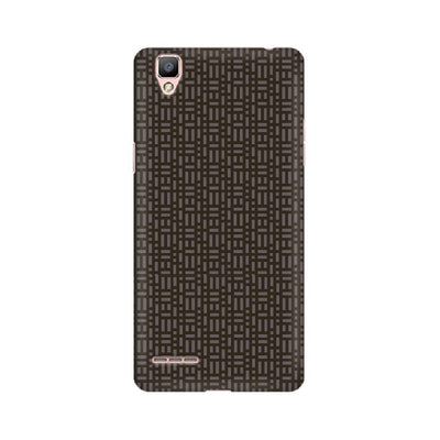 Brown Microgrid Oppo Mobile Covers