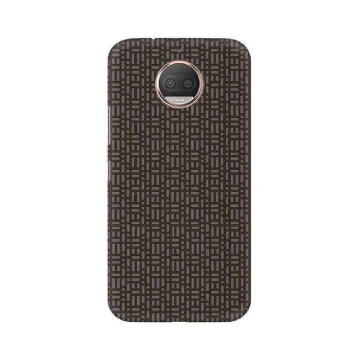 Brown Microgrid Motorola Mobile Covers