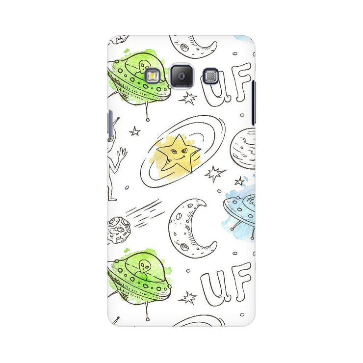 Aliens Space Doodle Samsung Mobile Covers