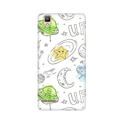 Aliens Space Doodle Oppo Mobile Covers