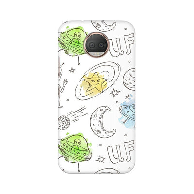 Aliens Space Doodle Motorola Mobile Covers