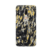 Black & Gold Wood Texture OnePlus Mobile Covers