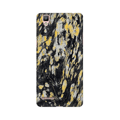 Black & Gold Wood Texture Oppo Mobile Covers