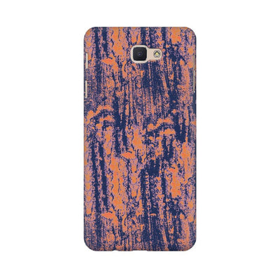 Neon Orange Wood Texture Samsung Mobile Covers