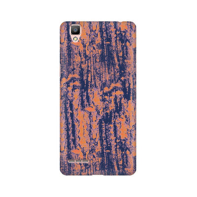 Neon Orange Wood Texture Oppo Mobile Covers
