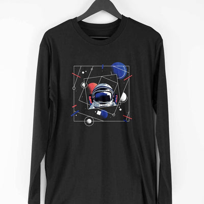 Abstract Astronaut Full Sleeve T-Shirt