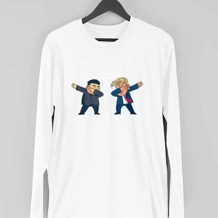 Peace Cartoon Full-Sleeve T-Shirt
