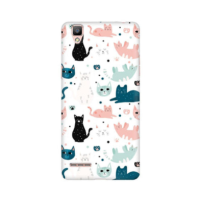 Cat Pattern Oppo Mobile Covers