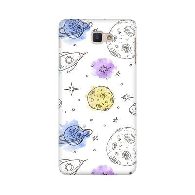 Rockets & Planets Space Doodle Samsung Mobile Covers
