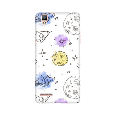 Rockets & Planets Space Doodle Oppo Mobile Covers