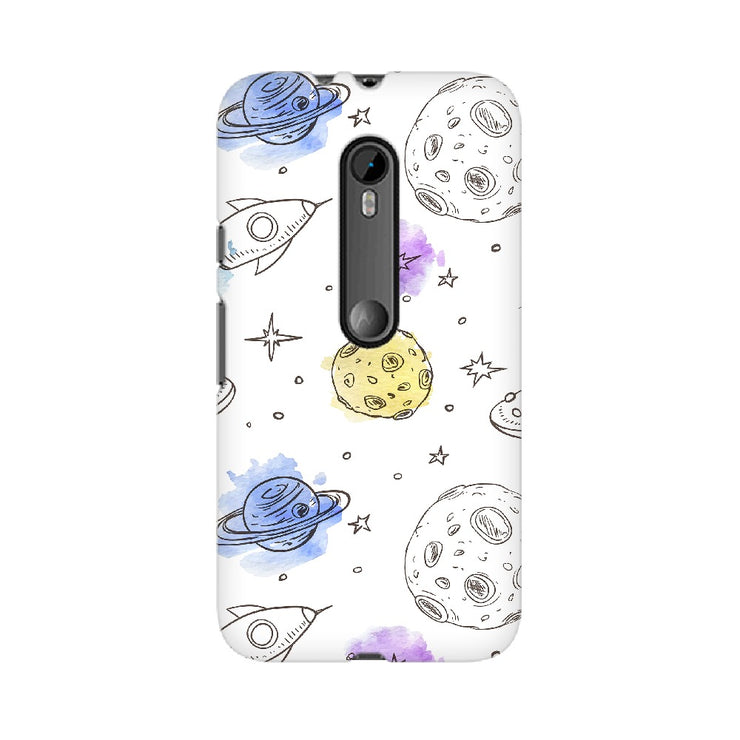 Rockets & Planets Space Doodle Motorola Mobile Covers