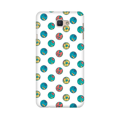 Colorful Circle Leaves Pattern Samsung Mobile Covers