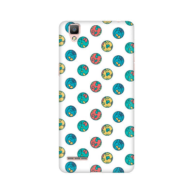 Colorful Circle Leaves Pattern Oppo Mobile Covers
