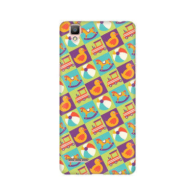 Colorful Kids Toys Pattern Oppo Mobile Covers
