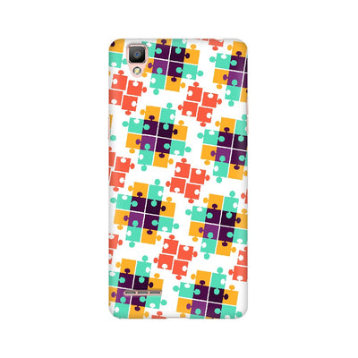 Colorful Puzzle Pattern Oppo Mobile Covers