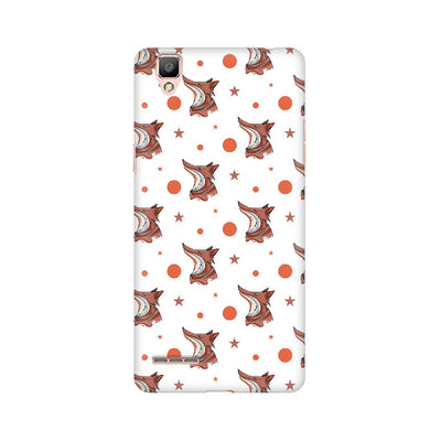 Fox Abstract Pattern Oppo Mobile Covers