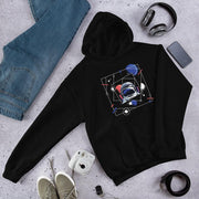 Abstract Astronaut Unisex Hooded Sweatshirt