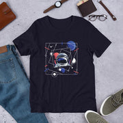 Abstract Astronaut Half Sleeve T-Shirt