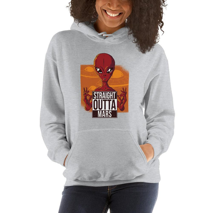 Straight outta Mars Unisex Hooded Sweatshirt