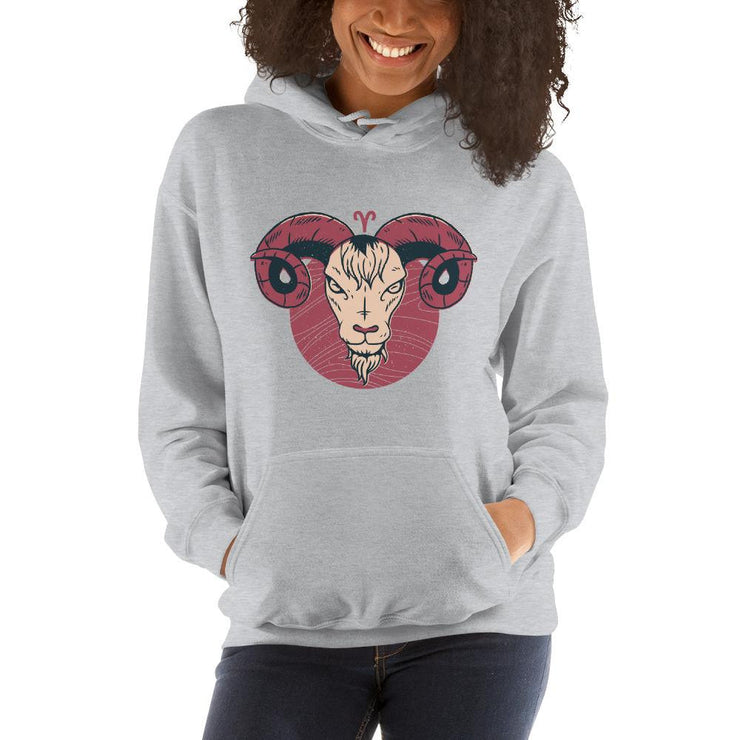 Aries Zodiac Unisex Hooded Sweatshirt
