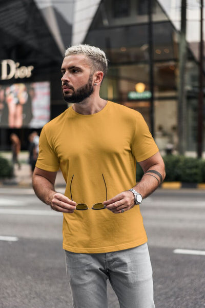 Men/Unisex Plain Half Sleeve T-Shirt