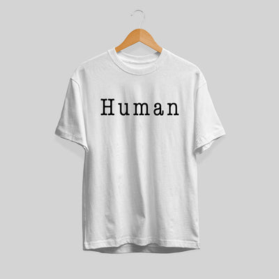 Human Typography Unisex Half Sleeve T-Shirt #Plus-sizes