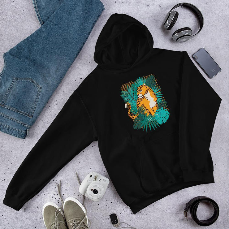Jungle Jaguar Unisex Hooded Sweatshirt