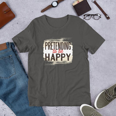 Pretending To Be Happy Half Sleeve T-Shirt