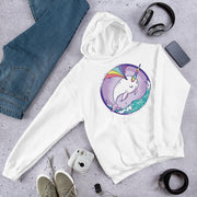 Rainbow Whale Unisex Hooded Sweatshirt