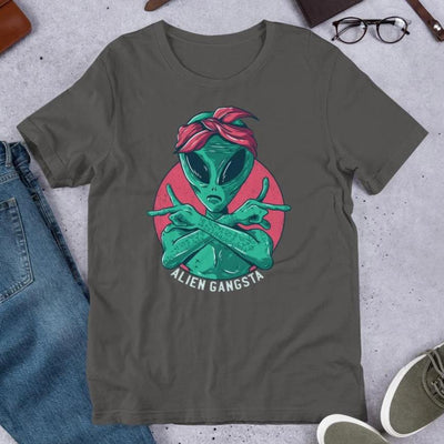 Alien Gangsta Half Sleeve T-Shirt