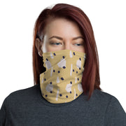 Splash & Dots Neck Gaiter #Mint-Yellow