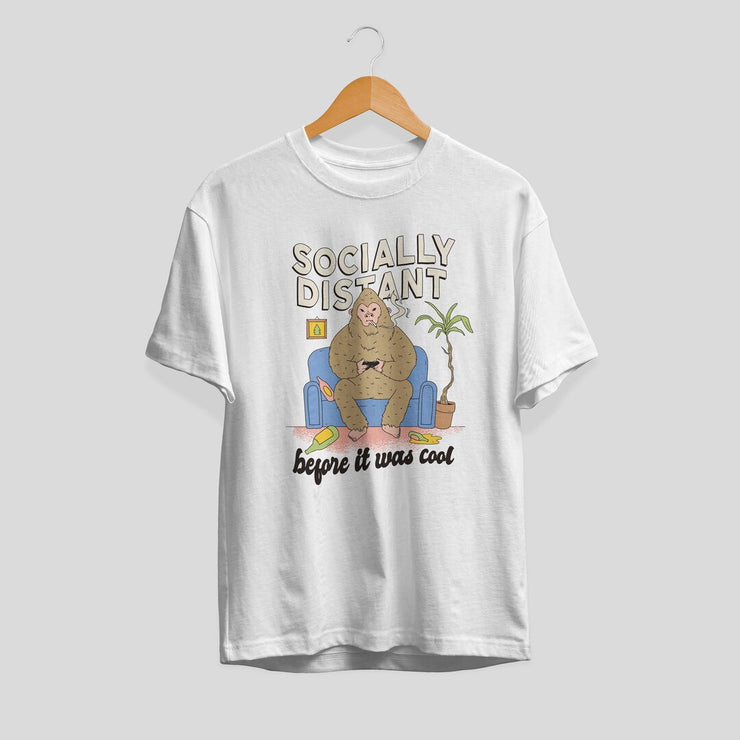 Social Distant Bigfoot Unisex Half Sleeve T-Shirt #Plus-sizes