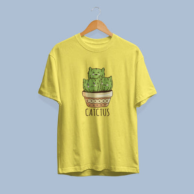 Cute CATctus Half Sleeve T-Shirt