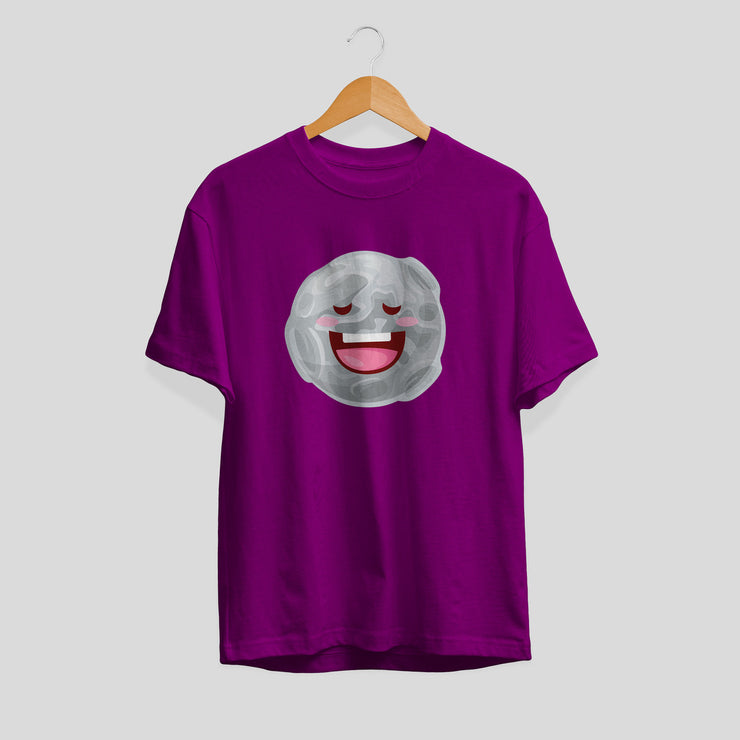 Moon Cartoon Half-Sleeve T-Shirt
