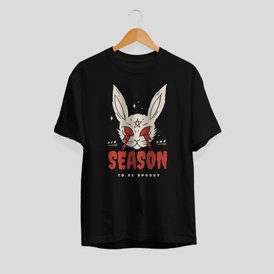 Scary Halloween Rabbit Unisex Half Sleeve T-Shirt